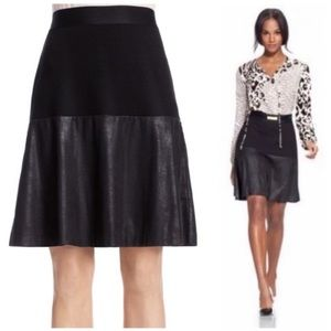 CAbi Owens A-line Faux Leather Skirt